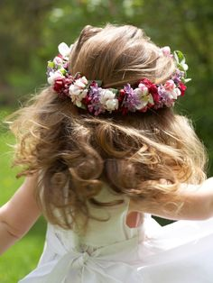 Flower girl hair wreath...beautiful