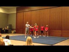 """Cheerleading stunt: """"pancake"""" - YouTube"""