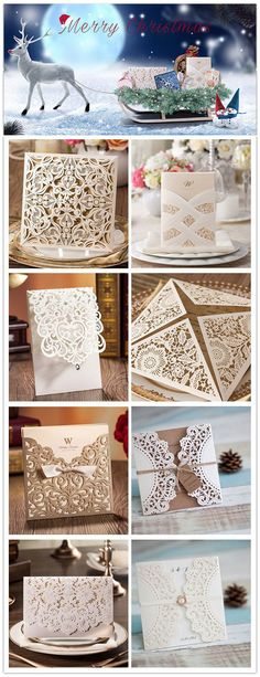 affordable elegant laser cut wedding invitations CHRISTMAS SALE: UP TO 15% OFF