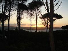 Sunset on nearby Caprera Island.