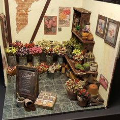 "204 Likes, 15 Comments - Elize C (@ecminithings) on Instagram: ""Yeah!! Finished!! My first Flowershop 1:12 scale.  95% recycled materials. A first impression.…"""