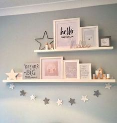 How to make your own floating shelves - Kinderzimmer - Shelves in Bedroom Baby Bedroom, Baby Room Decor, Star Bedroom, Baby Girl Bedroom Ideas, Childrens Bedroom Ideas, Girls Bedroom Decorating, Girl Toddler Bedroom, Kids Bedroom Ideas For Girls, Nursery Room Ideas