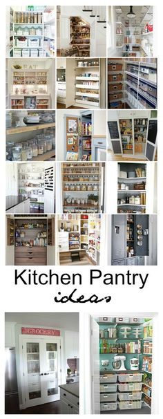 Organized Kitchen Pantry Ideas Is your Kitchen Pantry in need of a major makeover? Today, I will be sharing some Organized Kitchen Pantry Ideas to help get you inspired to start putting together your perfectly organized pan!try - Own Kitchen Pantry Kitchen Organization Pantry, Pantry Storage, Kitchen Pantry, Home Organization, Kitchen Storage, Organized Kitchen, Pantry Ideas, Kitchen Shelves, Kitchen Island