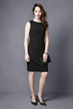 Office Hours, Happy Hours: Our collection is designed with versatile, modern classics that work. This simple, chic shift is perfectly suited for day or night. Cheers to that! #littleblackdress #lbd