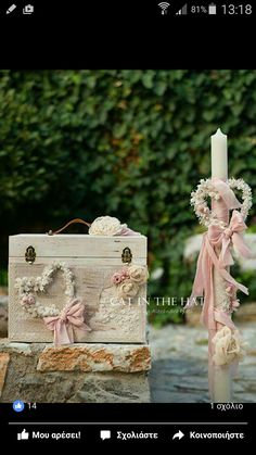 Special Day, Special Occasion, Candels, Wedding Designs, Wedding Ideas, Little Princess, Christening, Projects To Try, Decorative Boxes