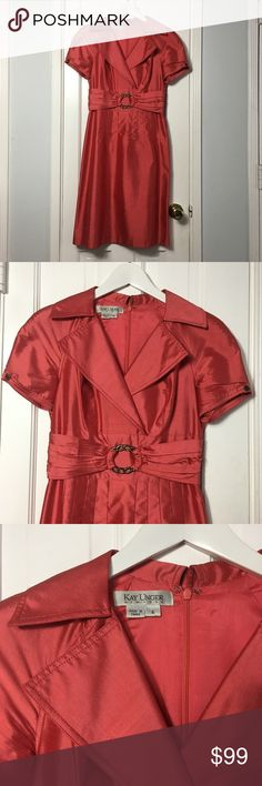 Vintage Kay Unger 50s dress sz 4 Vintage Kay Unger 50s dress sz 4 Made In: china Size: 4 Fit: tailored Shoulders: 17 Chest: 32 Waist: 28 Hips: 35 Length: 40 Sleeve: raglan, short Material: silk Color: pink / peonia Condition: excellent #CoxyCloset #vintage #50s #fifties  #dress #mididress #elegant #formal #daywear #cocktail #spring #summer #kayunger Kay Unger Dresses Midi