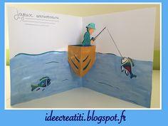 carte anniversaire pêcheur