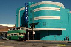 Our local art deco cinema. allthingsartdeco: (and AQUA too!) Beautiful Art Deco cinema in the Streamline style (Collaroy, NSW Australia) Art Deco Stil, Art Deco Home, Art Deco Era, Bauhaus, Art Nouveau, Art And Architecture, Architecture Details, Streamline Moderne, Streamline Art