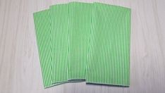 Christmas Cloth Napkins Green White Stripes Dinner Lunch 16 Inch Set of 4