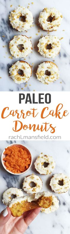 Paleo Carrot Cake Donuts made in under 15 minutes