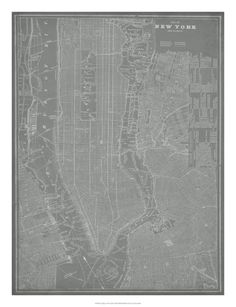 City Map of New York Giclee Print by Vision Studio at Art.com