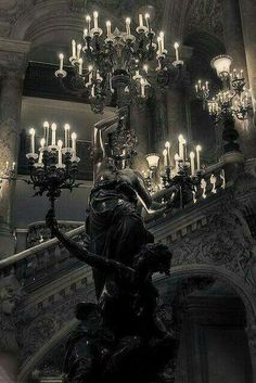 Love The Dark Old Gothic Feeling With Lots Of Candelabras And Chandeliers