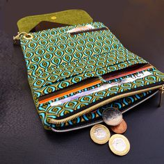 The Flip Clutch Wallet sewing pattern from Spencer Ogg