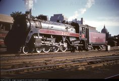 High quality photograph of Canadian Pacific Railway Steam # CP 2417 at Montreal, Quebec, Canada. Old Train Pictures, Canadian Pacific Railway, Train Engines, Rolling Stock, Emo Scene, Scene Hair, Steam Engine, Steam Locomotive, Vintage Trains