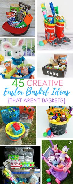 Make a fun easter basket using a beach towel and pool noodle swim 45 creative easter basket ideas that arent actually baskets negle Gallery