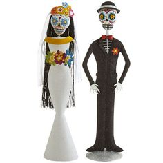 Until death do us part—but why stop there? Our handcrafted and hand-painted Day of the Dead bride and groom are ready to celebrate for eternity. Exclusively Pier 1.