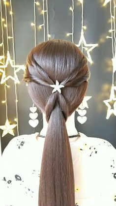 Simple tutorial bridal hair inspiration, check out more videos and pictures, click and follow! Bandana Hairstyles For Long Hair, Haircuts For Long Hair, Braids For Long Hair, Braided Hairstyles, Braid Hair, Wedding Hairstyles, Hair Tips Video, Long Hair Video, Hair Videos