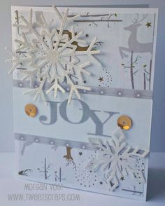 TweetScraps: October Card Workshop - Oh Deer! Christmas Cards