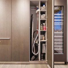 The utility cabinet! The key to keeping your home organized! One of our favourite ideas! | Designed by bulthaup @bulthauphq