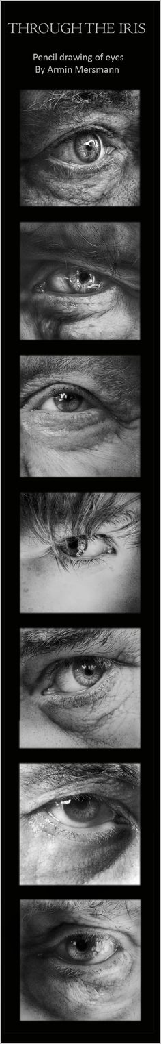 Pencil drawing of eyes By Armin Mersmann