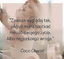 Coco Chanel wiedziała co mówi! Motto, Big Words, Different Words, Powerful Words, Fashion Quotes, Positive Thoughts, Beautiful Words, Life Lessons, Quotes To Live By