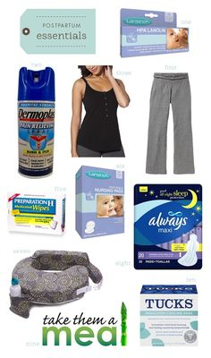 Postpartum Essentials for Mom.great idea for baby gift.I would have loved this after my babies Pregnancy Info, Pregnancy Care, Postpartum Care, Postpartum Recovery, Getting Ready For Baby, Baby On The Way, Baby Makes, Everything Baby, Baby Time