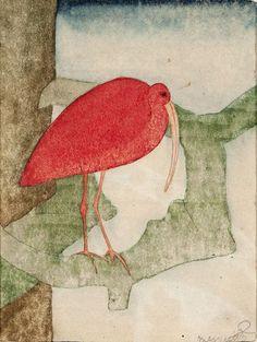 Samuel Jessurun de Mesquita, Rode ibis, ca. 1920. @ Joods Historisch Museum, 28 March - 1 September