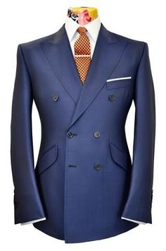 The Mollison Prussian Blue Birdseye Suit