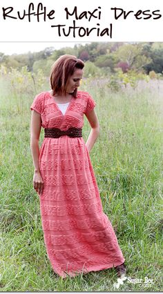 this looks pretty easy to make!  ruffled maxi dress, with a how-to tutorial