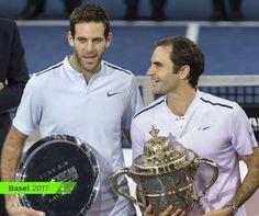 Roger Federer and Juan Martin Del Potro 2017 Basel