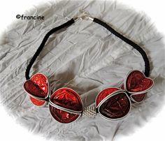 FRANCINE BRICOLE : Collier Nespresso : les capsules rouges font de l'effet ...