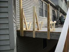 Deck benches I built to also act as a railing around the outside edges