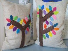 Mod Trees Bean Bag Bookends por dedeetsyshop en Etsy, $22.00