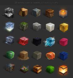 25 Material Cubes by TamberElla.deviantart.com on @DeviantArt
