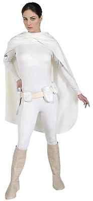 Padme Amidala Star Wars Queen White Fancy Dress Halloween Deluxe Adult Costume