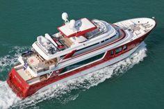 Red mega yacht!