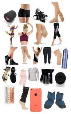 """""""What's in my dance bag✌️ probs forgot a lot of things"""" by sarahsewing ❤ liked on Polyvore featuring Capezio, Studio by Capezio, Fekkai, Forever New, J.Crew, Pineapple and Bloch"""