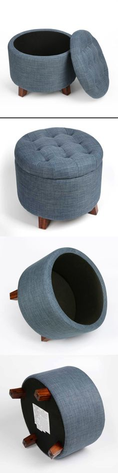 & Rono Black Round Foot Stool (30580) | Lounge | Pinterest | Foot stools islam-shia.org