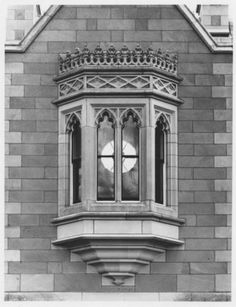 Oriel window, Government House, Hobart, Tasmania; Department of Film Production; c. 1960s.