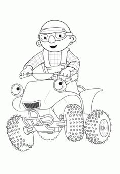 bob the builder and scrambler coloring page bob the builder coloring pages for kids