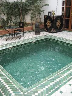 Riad Yasmine – Marrakech i want a mosaic pool like, so bad
