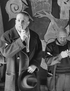 Claude Roy, Francis Poulenc aet Pablo Picasso à Saint Jean Cap Ferrat, Pablo Picasso, Henri Cartier Bresson, Francis Poulenc, Saint Jean Cap Ferrat, Jean Renoir, Opera Music, Shakespeare And Company, Artists And Models, Musica