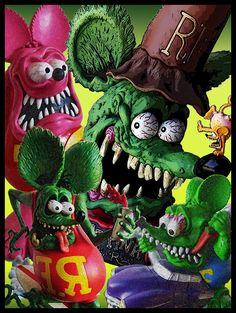Flying Eyeball and Rat Fink Metal Sign Cartoon Monsters, Cartoon Art, City Rats, Rat Rod Cars, Rat Rods, Man Cave Room, Horror Movie Characters, Rat Fink, Painting Wallpaper