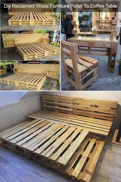 Pallet Yard Furniture, Pallet Garden Benches, Garden Furniture Design, Pallet Furniture Designs, Reclaimed Wood Furniture, Diy Furniture Projects, Furniture Making, Outdoor Pallet, Pallet Sofa
