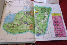 Hand drawn maps by kids