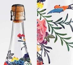 Floral Champagne Bottles - Mount Franklin Now Serves Water in an Elegant Champagne Bottle Packaging (TrendHunter.com)