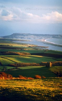 St Catherine's Church, the Fleet & Chesil Beach in Dorset, England