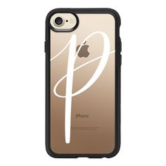 Monogram // P - iPhone 7 Case And Cover ($40) ❤ liked on Polyvore featuring accessories, tech accessories, iphone case, clear iphone case, monogram iphone case, apple iphone case, iphone cover case and iphone cases