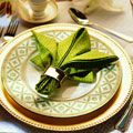 Learn step by step how to fold this beautiful Fleur de Lis Napkin for your next party. (delish.com)