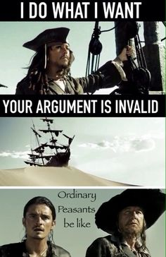I don't know, I just made this. ~ Samantha Morton /// PotC Pirates of the Caribbean At World's End humor Jack Sparrow Will Turner and Barbosa (I really don't know how to spell his name.)